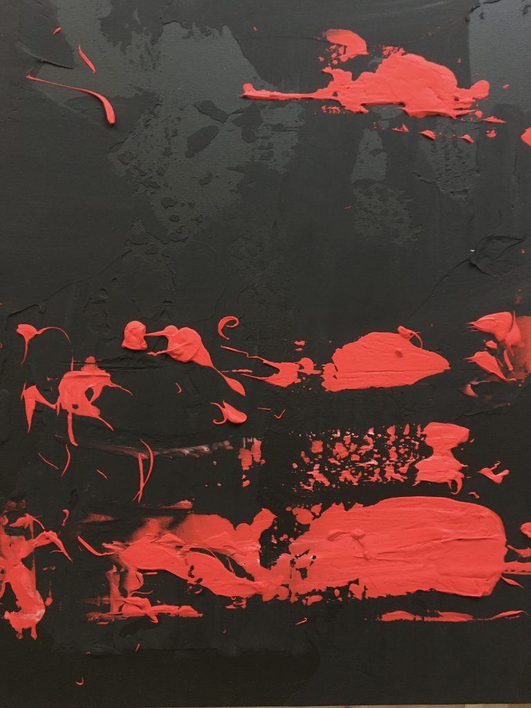 """""""Terres brûlées volcaniques - Volcanic Scorched Earth"""" - Part 3 - Acrylique sur toile - Buno Planade 2020"""
