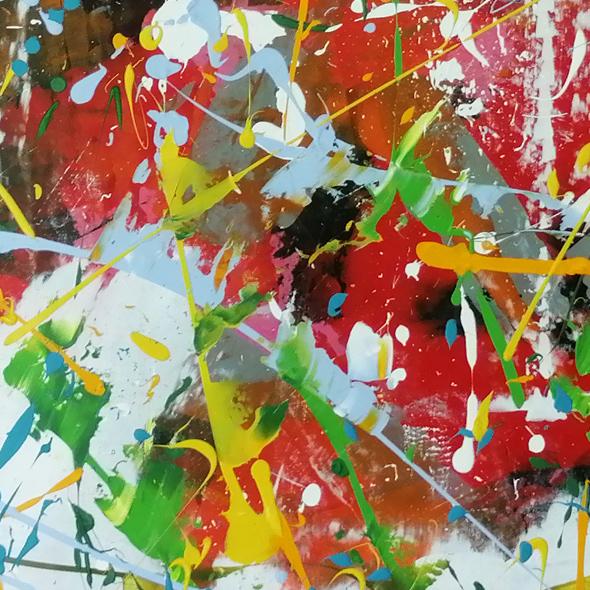 Bengali : peinture acrylique - Bruno Planade - 2020