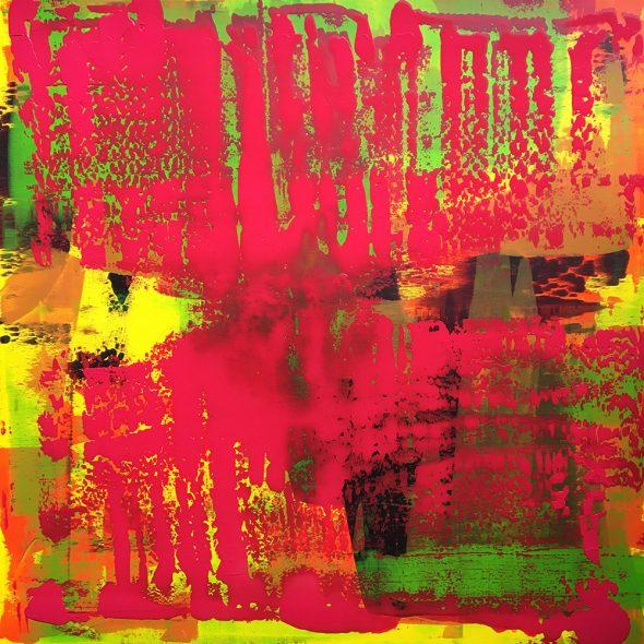 """Under Pressure"" - Acrylic painting of Bruno PLANADE - 2021"