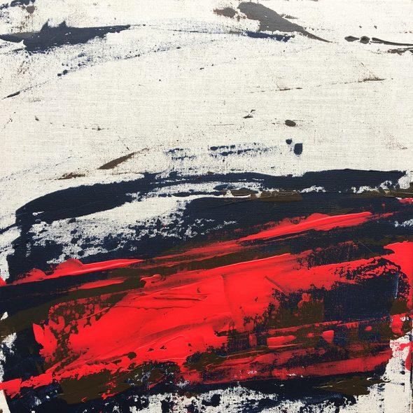 Éraflures rouges / Scuffs yellow. Peinture acrylique sur toile lin. Bruno Planade 2021. #crossmypicture