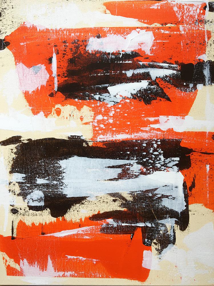 """Jamming"". Acrylic paint. Bruno Planade 2021. #crossmypicture"